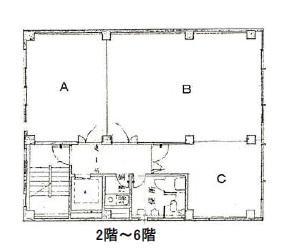 布亀ビル基準階間取り図