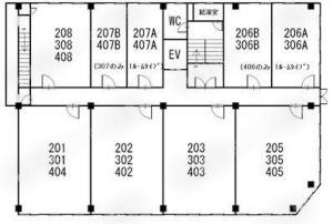 末広センタービル基準階間取り図