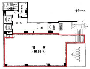 現代心斎橋ビル1階間取り図