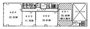 トーア紡第2ビル4階間取り図