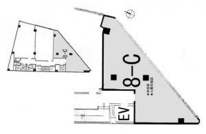 肥後橋新興産ビル基準階間取り図