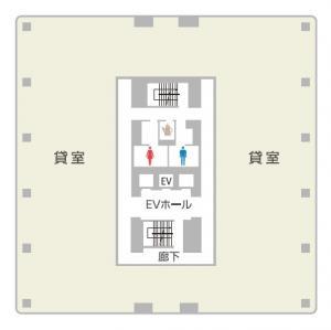 LUCID SQUARE UMEDA(ルーシッドスクエア梅田)基準階間取り図