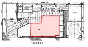 KDX北浜ビル1階間取り図