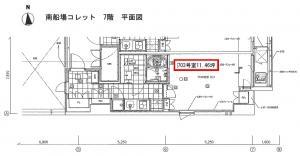 南船場コレット7階間取り図