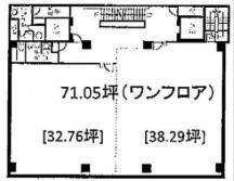 瓦町SFビル基準階間取り図