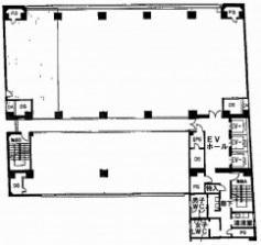 住友生命本町第2ビル基準階間取り図