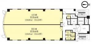 大阪1126ビル基準階間取り図
