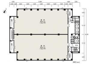 福島阪神ビルディング基準階間取り図