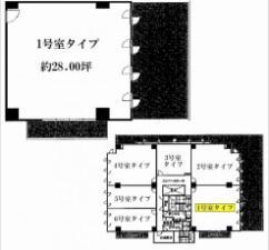 エッグビル第3江坂基準階間取り図