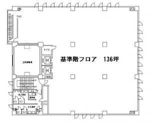 井門江坂駅前ビル基準階間取り図