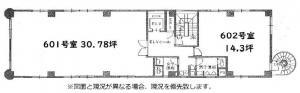 心斎橋コラムナービル6階間取り図