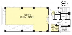 大阪1126ビル2階間取り図