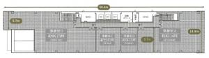 S-BUILDING新大阪基準階間取り図