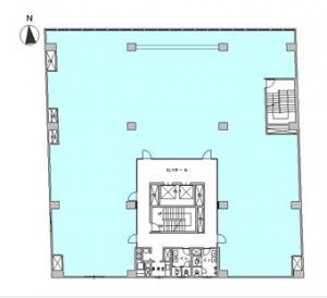 扇町パークビル基準階間取り図