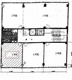 TATSUMI福島ビル基準階間取り図
