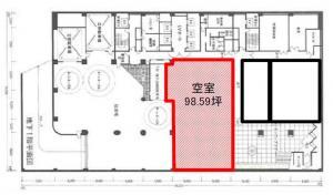 堂島アクシスビル地下1階間取り図