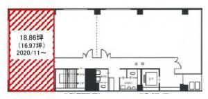 FUJIビル6号館8階間取り図