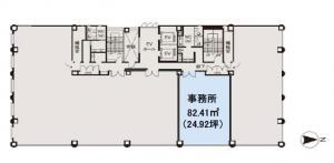 大阪堂島ビル4階間取り図