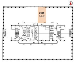 大阪駅前第3ビル基準階間取り図