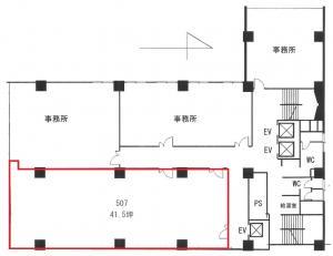 丸忠第3ビル5階間取り図