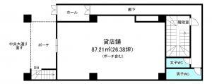リアライズ堺筋本町ビル1階間取り図