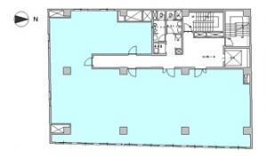 天満パークビル基準階間取り図