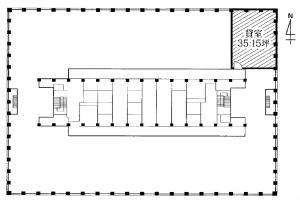 大阪駅前第3ビル12階間取り図