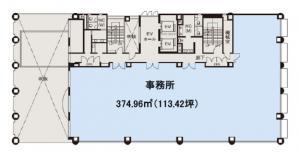 大阪堂島ビル2階間取り図