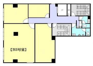 江戸堀KNビル203号室間取り図