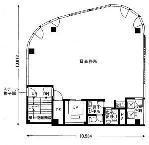 日宝北浜アークビル基準階間取り図