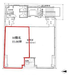 マルイト平野町ビル10階間取り図