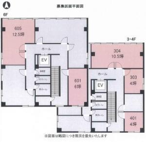 大成合同ビル基準階間取り図