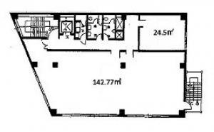 エーワンビルディング基準階間取り図