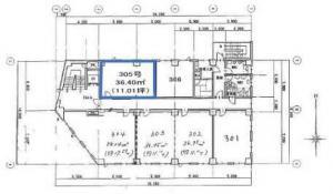 リーガル新大阪ビル3階間取り図