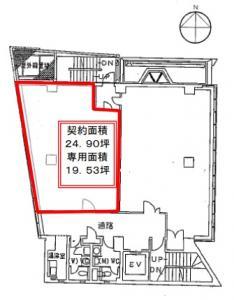 吉田茶屋町ビル7階間取り図
