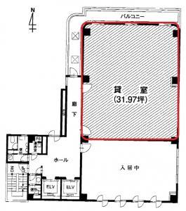 現代心斎橋ビル9階間取り図