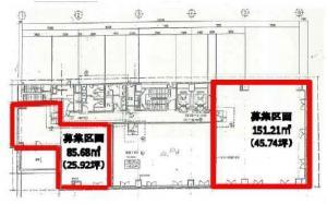 本町寺田ビル9階間取り図
