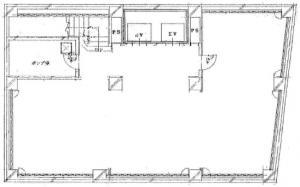 北新地ビルディング基準階間取り図