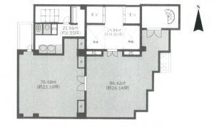 アイリス大阪ビル2階間取り図