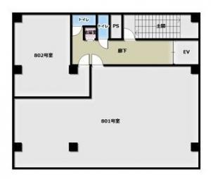 エッグビル本町8階間取り図