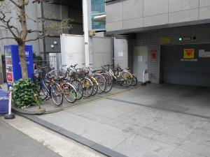 肥後橋プラザビル駐輪スペース