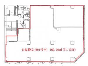 EM&C谷町ビル6階間取り図