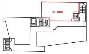 レイズウメダビル(LEI'S Umeda)9階間取り図