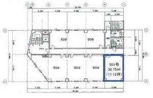 リーガル新大阪ビル5階間取り図