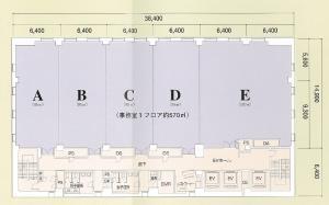 ラグザ大阪基準階間取り図