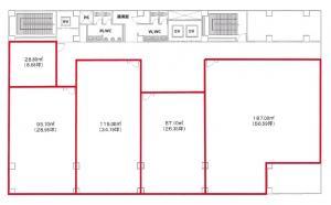 創建本町ビル3階間取り図