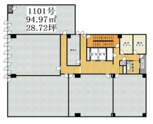 フェニックス内本町ビル1101号室間取り図