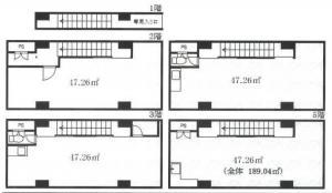 東梅田ビルディング基準階間取り図