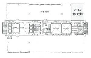 マルイト西梅田ビル3階間取り図