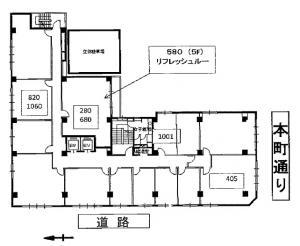 第10松屋ビル基準階間取り図